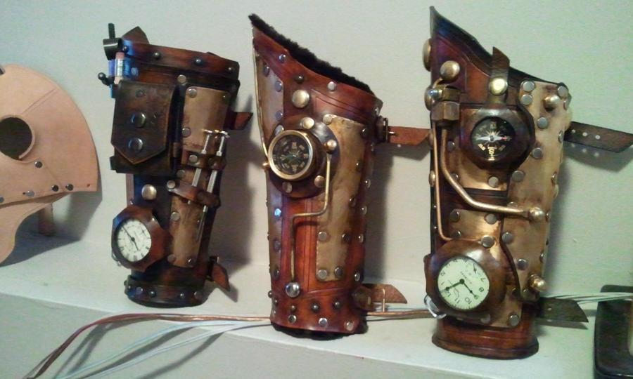 steampunk bracers by Skinz-N-Hydez