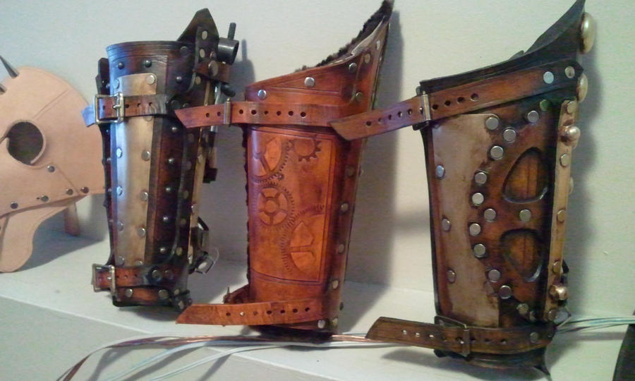 steampunk bracers back by Skinz-N-Hydez
