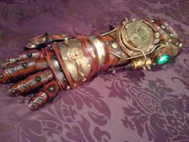 Full Steampunk Gauntlet/Glove by Skinz-N-Hydez