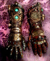 Steampunk Gauntlets by Skinz-N-Hydez