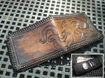 Steampunk cthulhu wallet