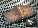 Steampunk cthulhu wallet