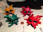 Mini leather leaf masks