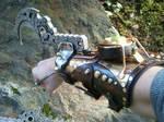 Steampunk hook gauntlet