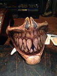 Leather grin mask