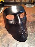 Black leather mask