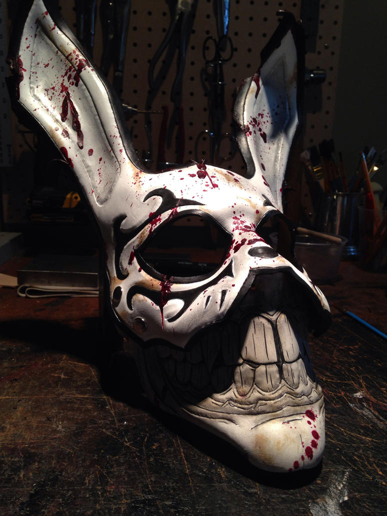 Leather Grinning rabbit mask by Skinz-N-Hydez