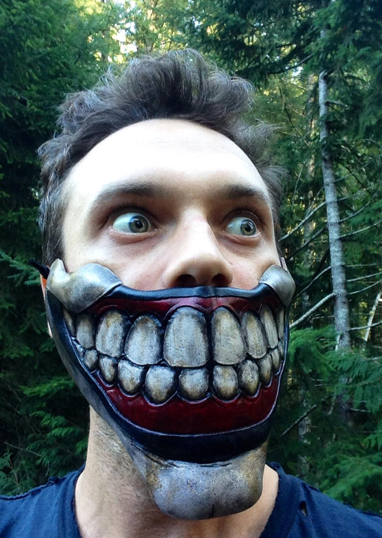 Leather Twisty the clown inspired mask by Skinz-N-Hydez