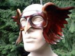 Leather hawkman mask