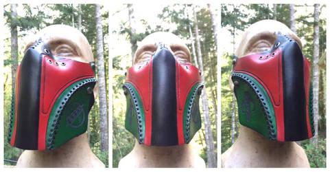 Leather Boba Fett inspired Half mask