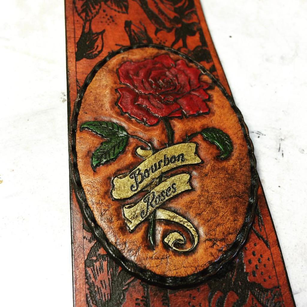 Bourbon Roses Banjo Strap by Skinz-N-Hydez
