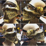 Leather Skull half mask for Bikers or airsoft
