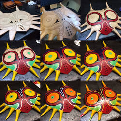 Building Stages of the Majoras Mask