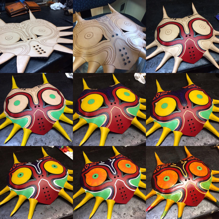 Building Stages of the Majoras Mask by Skinz-N-Hydez