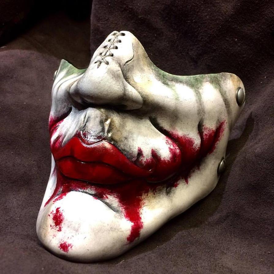 Why So Serious? Heath Ledger Joker Half Mask by Skinz-N-Hydez