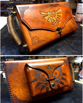 Leather Nintendo Switch carrying case