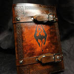Leather Skyrim Book Cover