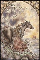 Oh dear black horse... by Sieskja