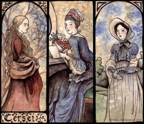 Three ladies by Sieskja