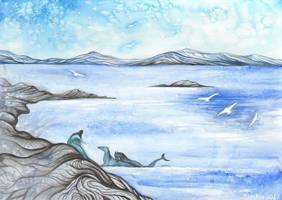 Winter Scenery II by Sieskja