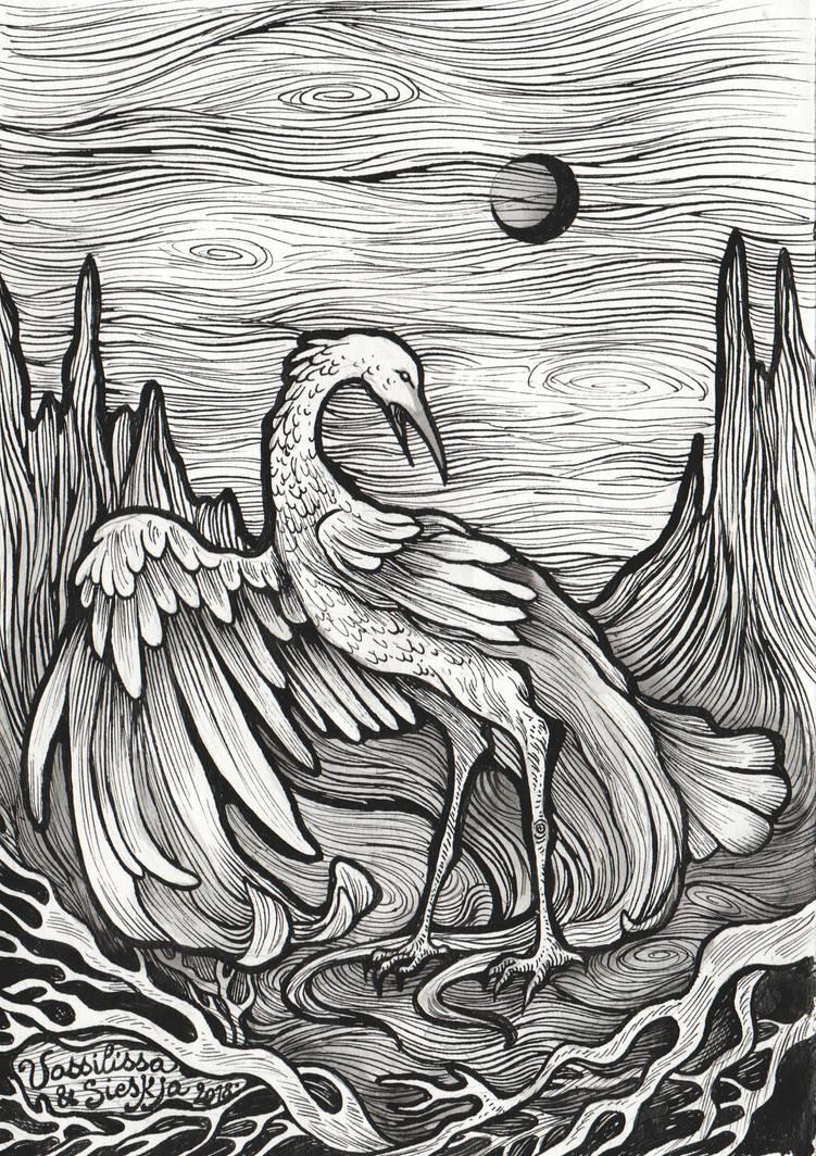 Ardea alba (collab) by Sieskja