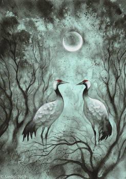 Decembird - Eurasian Cranes II