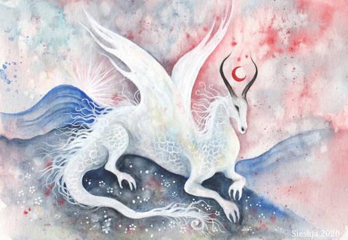 Red moon dragon
