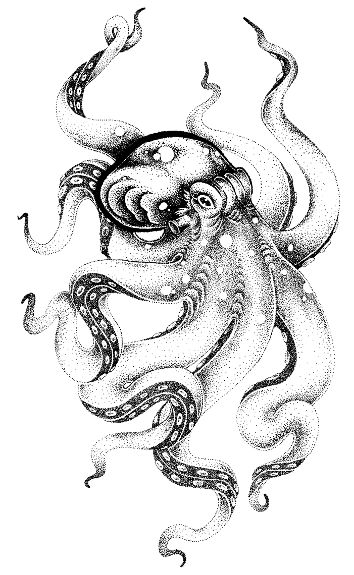 Kraken BW by shandy-matt