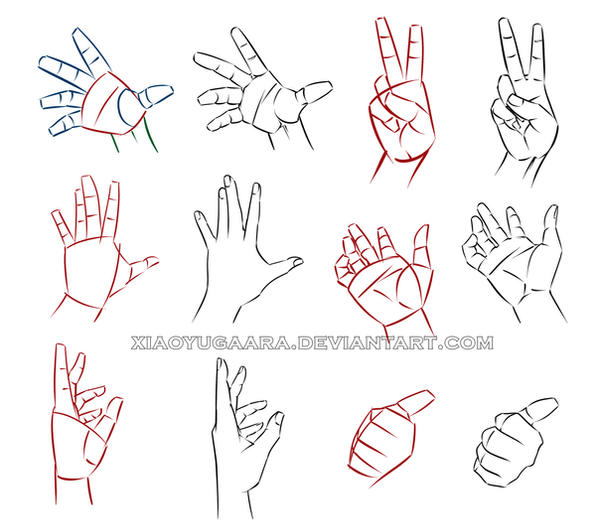 D Line Drawing Hand : Hand study by xiaoyugaara on deviantart