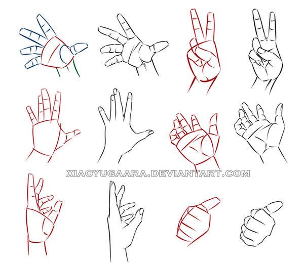 Как нарисовать руку кисть руки карандашом поэтапно