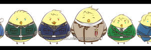 APH: Group of 'Gilbird' 8 by xiaoyugaara