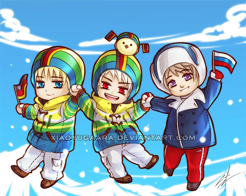 APH: Chibi Jump Sochi2014 by xiaoyugaara