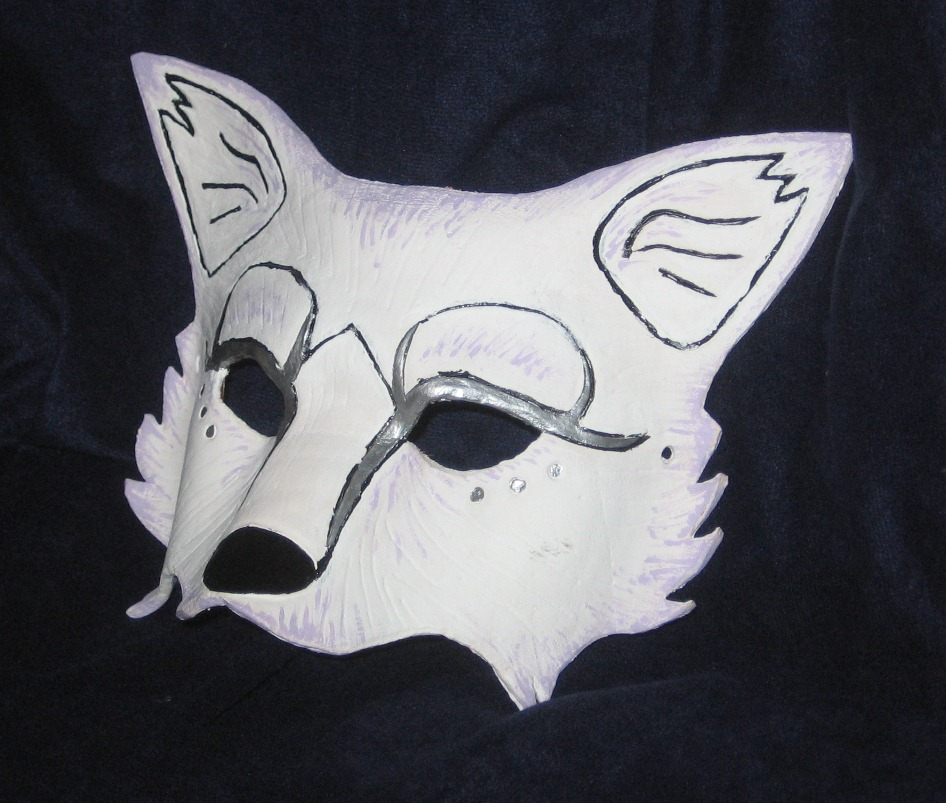 how to draw a wolf mask