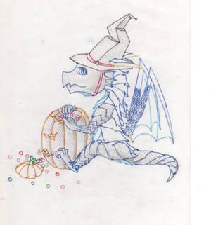 Halloween Dragon~!(colored 1)-100.12.13