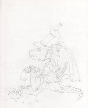 Halloween Dragon~!(Line)-100.12.09