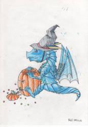 Halloween Dragon~!(colored 2)-100.12.10