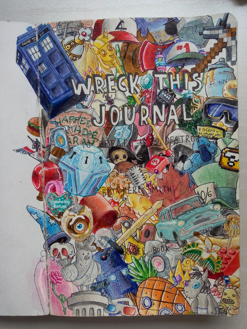Pretty Book Cover Art : Wreck this journal title page by poulped on deviantart