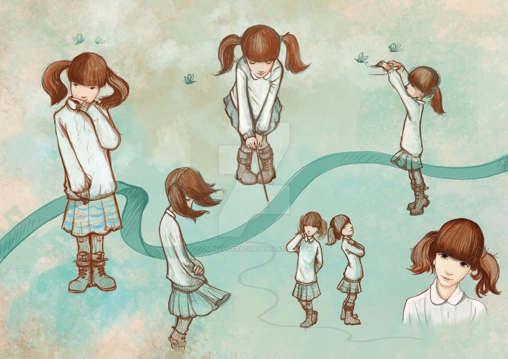 Chamill - Girl character by Gabillustrator