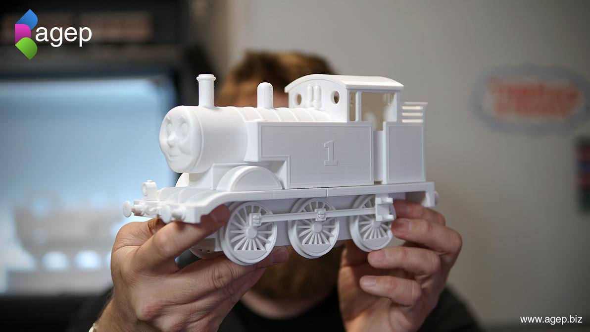 Large 3D Printed Thomas the Tank Engine Giveaway by agepbiz