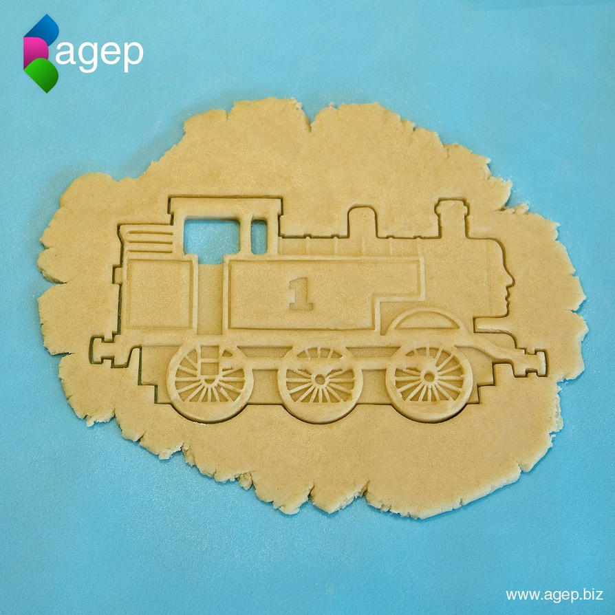 3D Printed Thomas the Tank Engine Cookie Cutter by agepbiz