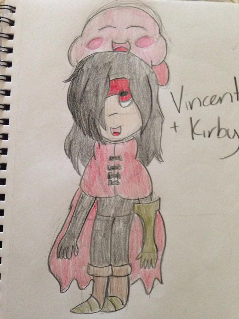 Vincent Valentine and Kirby by VinnieValentine00