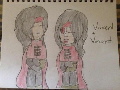 Vincent Valentine and Vincent Valentine by VinnieValentine00
