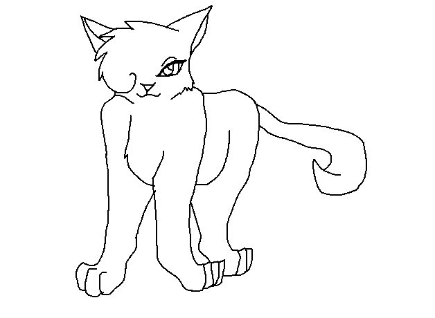 warrior cats coloring pages bluestar energy | Free She-cat lineart by bluestar32 on DeviantArt