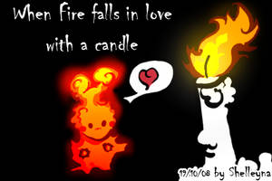 In love with a candle by Shelleyna