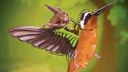 Fly with a bird