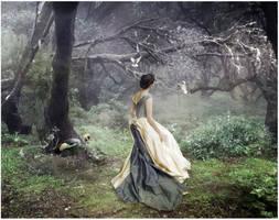 Woman with Birds by kayceeus