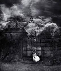 Girl at Gate by kayceeus