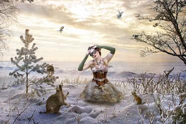 Winter Friends by kayceeus