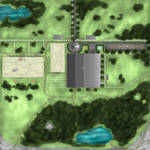 CandleWick Equine Facility Aerial Map