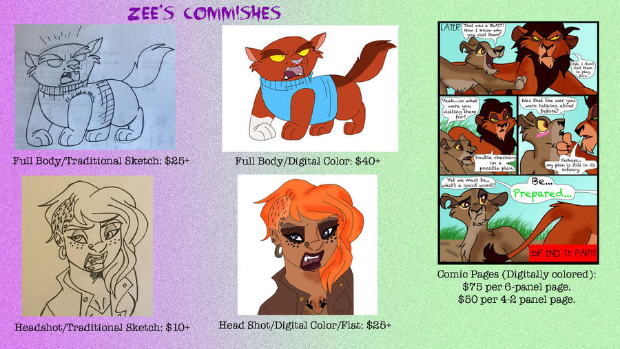 Zee's Commish Prices